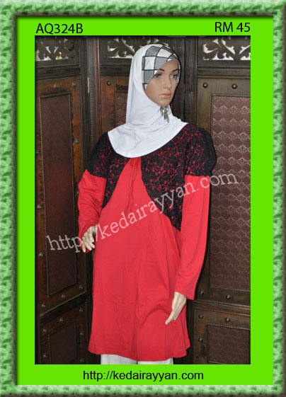 AQ324Bb-T-Shirt Muslimah Aqeela