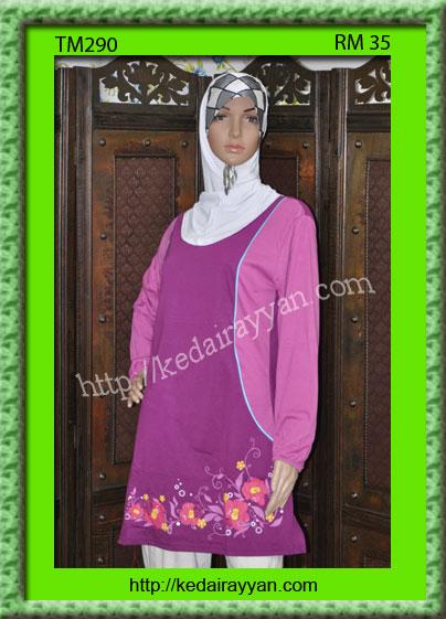 TM290-T-Shirt Muslimah Labuh
