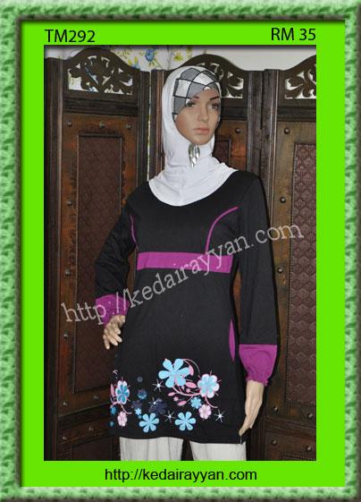 TM292-T-Shirt Muslimah Labuh