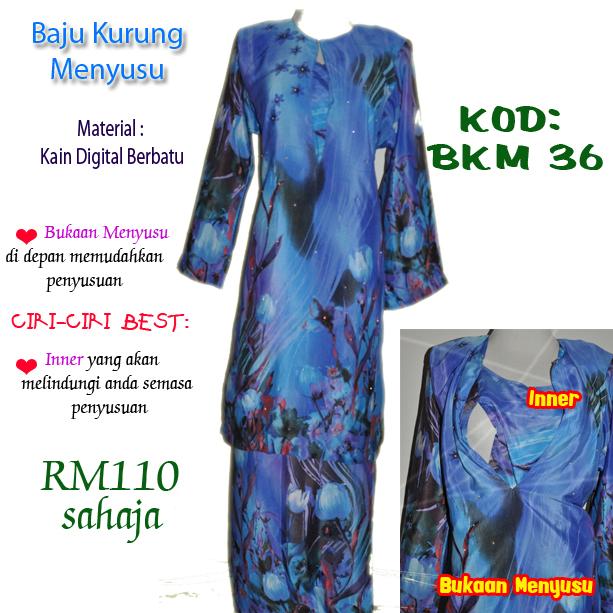 baju kurung menyusu bkm 36
